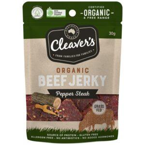 Cleavers Organic Pepper Steak Jerky